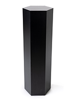 Hexagon retail pedestal with thee height options to choose from