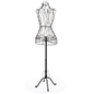 Wire dress form made of durable wrought iron