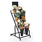 Flower bucket display stand with six plastic display buckets