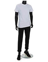 Headless male fashion dummy with floor standing placement style