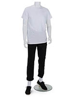Headless abstract male mannequin with recyclable polypropylene build