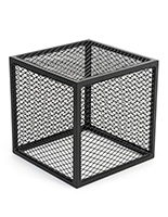 Rectangular iron mesh riser box with 2mm thick grid design
