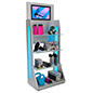 LED retail shelving with media player and durable aluminum frame