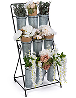 3-layer flower bucket rack with floor standing placement style