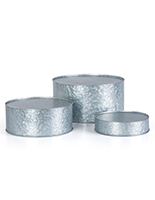 Round galvanized risers sold in a set of three