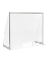 Countertop acrylic hygiene shield with curved design