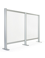 Countertop acrylic separation screen add-on panel for SMSAL47