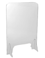 Clear acrylic splash guard with slot for business transactions