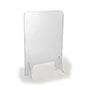 Clear acrylic splash guard with portable design