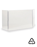 Countertop polycarbonate hygiene barrier with 0.177 inch thick material