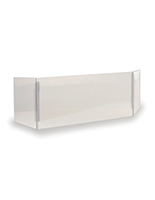 Acrylic protective splash guard with overall width of 36 inches