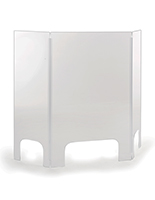 Acrylic countertop cashier shield with 0.25 inch thickness