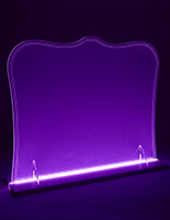 Illuminated countertop acrylic barrier with modular design