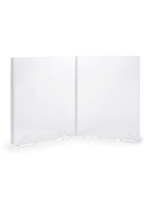 Modular plexiglass sneeze guards with overall height of 28 inches