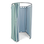 Portable dressing room made of durable lightweight aluminum