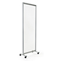 Clear mobile room divider with 0.15 inch thick acrylic