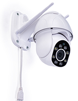 Rotating smart security camera with wall mounted placement