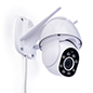 Rotating smart security camera with dual antennas