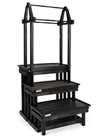 36 inch wide garden center hanging display stand with matte finish