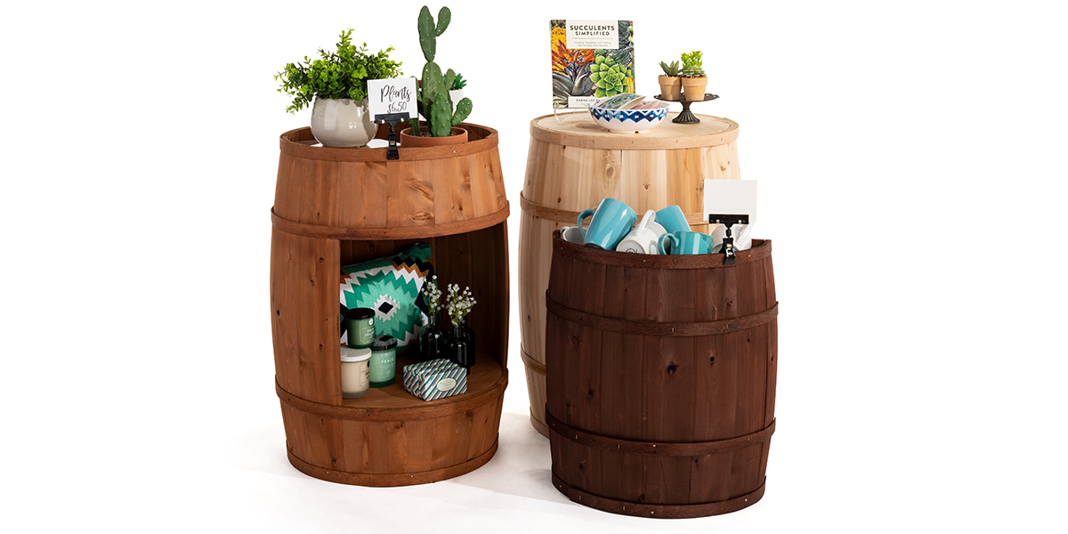 Cedar wooden bourbon barrels with versatile functions