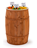 Food grade cedar barrel with light brown stain