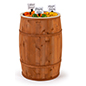 Food grade cedar barrel with 19 inch diameter