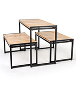 Large nesting tables include all three table pieces