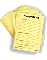 suggestion forms