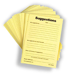 Suggestion Form And Slips Pad