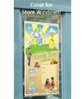 Use these snap rails to hang signage in a store window or office glass door.