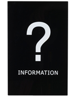 """Information"" Stanchion Sign for Trade Shows"