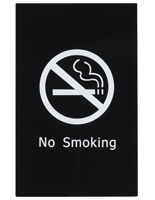 """No Smoking"" Stanchion Sign for Control Queue Posts"