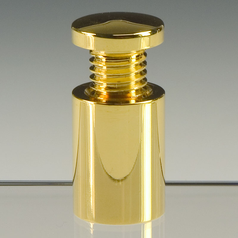 Mirror-like polished gold plated finishes on standoffs add extra allure to sign projects
