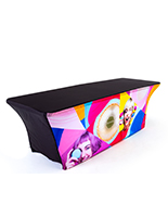 8ft custom stretch LED table cover replacement graphic fits FOLDT963GR