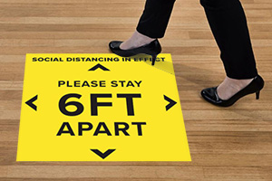 Social Distancing Floor Signs Protect Personal Space