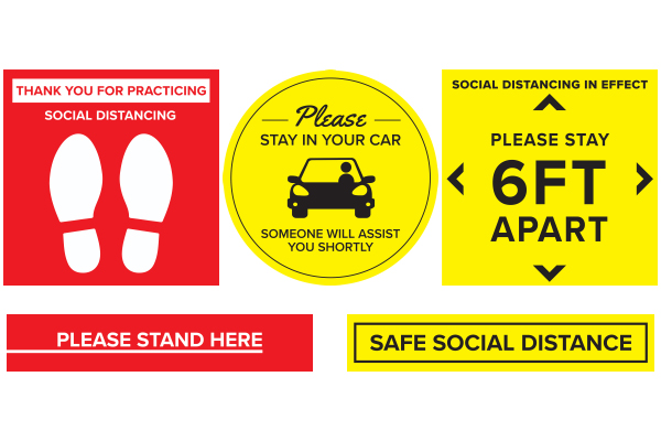 Coronavirus safety floor stickers and decals