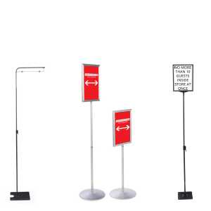 Social distancing floor standing sign holders