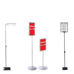 Social distancing floor standing sign holders