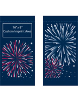 "18"" x 36"" Customizable Fireworks Banners for Street Lights Flag Set"