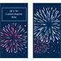 "30"" x 60"" Fireworks Flag Banners for Street Poles Banner Set with Pre-Printed Images"