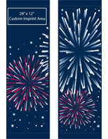 "30"" x 94"" Pre-Printed City Street Pole Banner Fireworks Design Set"