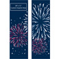 "30"" x 94"" City Street Pole Banner Fireworks Design Set with 2 Included Flags"