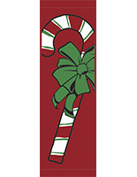 30 x 94 Double-Sided Holiday Parking Lot Light Pole Flag Banner