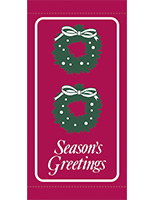 30 x 60 Season's Greetings Holiday Pole Banners for Towns