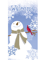 "Snowflake Outdoor Vinyl Banner with ""Welcome"" Message"
