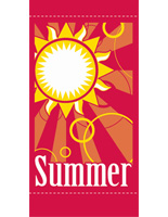 "18"" x 36"" Summer Light Post Flag with Pre-Printed Graphics"