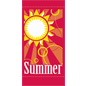 "18"" x 36"" Summer Light Post Flag with Sun Graphic"