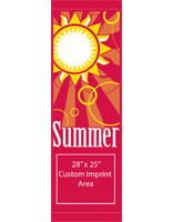 "30"" x 94"" Summer Pole Flag Banner with Custom Imprint Area"