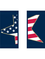 "18"" x 36"" Set of 2 Stars & Stripes Hanging Street Pole Banners"