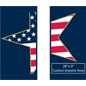 "30"" x 60"" Patriotic Street Light Decoration Banners with Pre-Printed Patriotic Graphic"